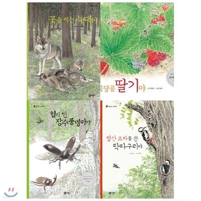 물들숲 그림책 9~12권 세트(전4권):우리나라 물, 들, 숲에 사는 동식물의 한살이를 아름다운 감성으로 담은 생태그림책 꾸러미