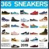 365 Sneakers 2019 Calendar