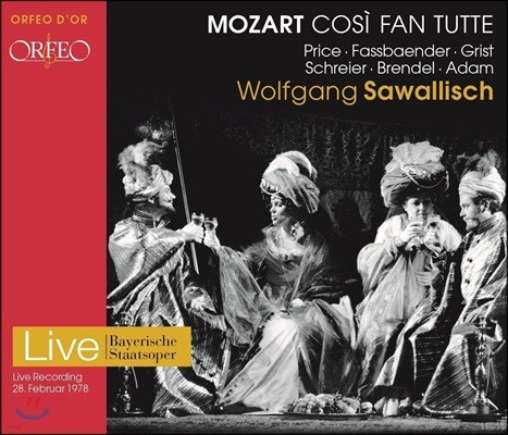 Wolfgang Sawallisch 모차르트: 오페라 '코지 판 투테' 전곡 - 1978년 실황 (Mozart: Cosi fan Tutte - 1978 Live)