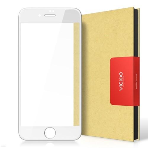 빅쏘 아이폰6플러스 4D 풀커버 방탄 액정보호 강화유리 필름 화이트