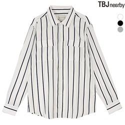 [TBJ]남성 폴리 루즈핏 스트라이프 셔츠(T181SH110P)