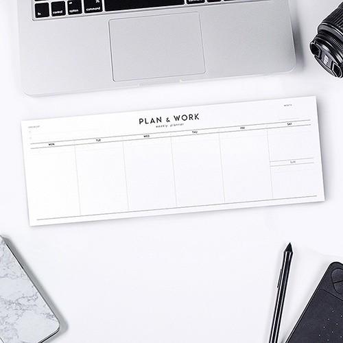 PLAN & WORK weekly planner
