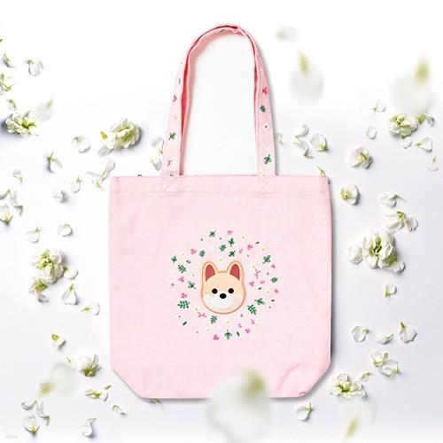 훌라펫 개꽃 에코백 포메라니안