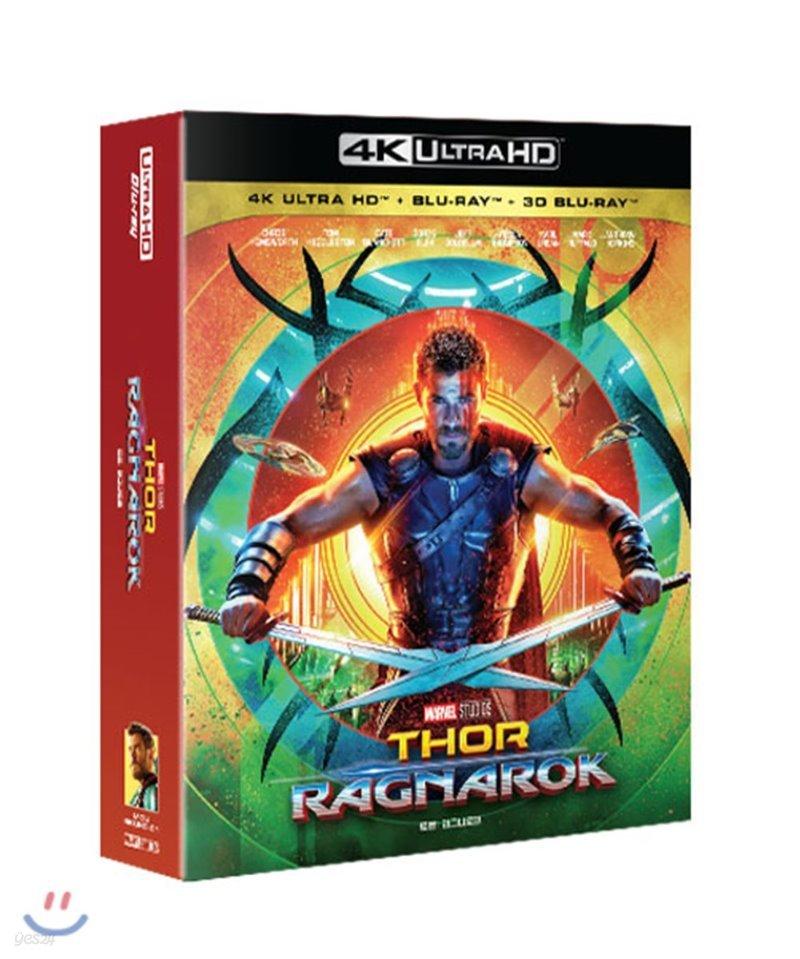 토르: 라그나로크 (3Disc 4K UHD + 3D + 2D 스틸북) : 블루레이