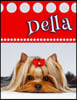 """Della: Personalized Address Book, Large Print, Birthday, Friendship, Christmas Gifts for Women and Girls, 8 1/2"""" X 11"""""""