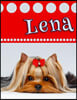 """Lena: Personalized Address Book, Large Print, Birthday, Friendship, Christmas Gifts for Women and Girls, 8 1/2"""" X 11"""""""
