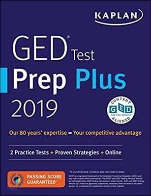 Kaplan GED Test Prep Plus 2019