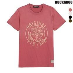 [BUCKAROO]유니 20수 상반신후끼 빈티지 R넥 티셔츠(B182TS010P)