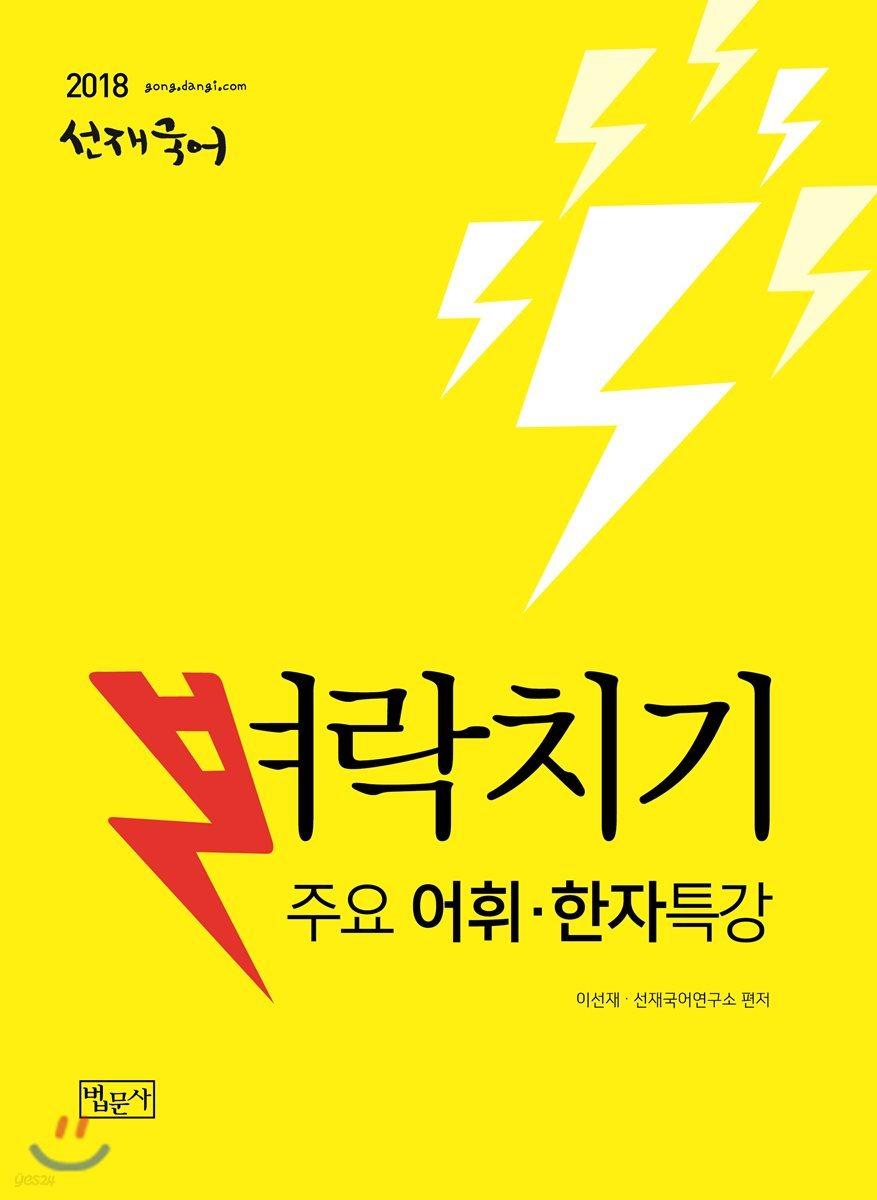2018 선재국어 벼락치기 주요 어휘 한자 특강