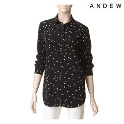[ANDEW]여성 긴팔 별 프린트 셔츠 (O152SH560M)