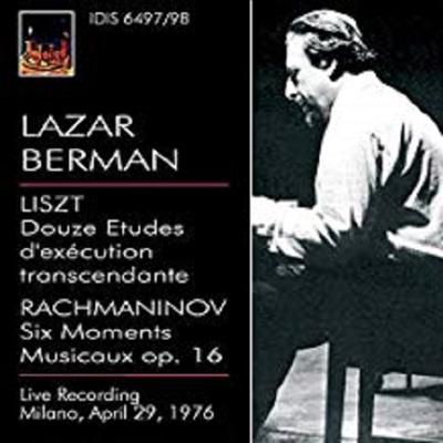 리스트 : 12개의 초절기교 연습곡, 라흐마니노프 : 악흥의 순간 (Liszt : Douze Etudes D`Execution Transcendante, Rachmaninov : Six Moments Musicaux Op.16) (2CD) - Lazar Berman