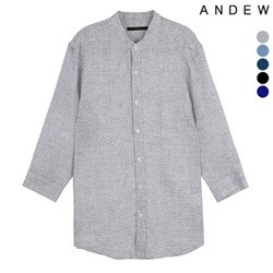 [ANDEW]남성 헨리넥 패턴7부 린넨SH(O182SH420P)