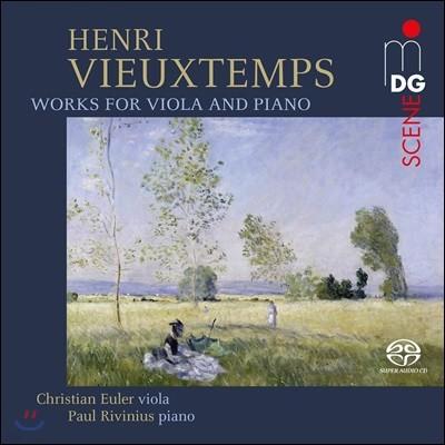 Christian Euler 비외탕: 비올라 작품집 - 독주와 소나타 외 (Vieuxtemps: Works For Viola & Piano)