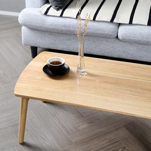[홈앤하우스] 고무나무 원목 접이식 사각 테이블 780
