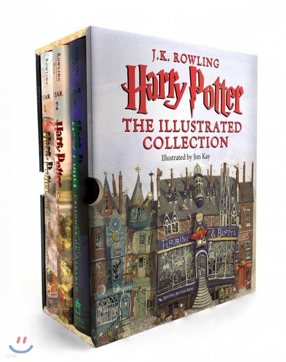 Harry Potter : The Illustrated Collection (미국판) : 해리 포터 일러스트판 3종 박스 세트