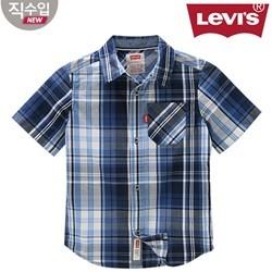 [리바이스키즈] 체크 셔츠(반팔)L VNM11QSH45 (키즈)