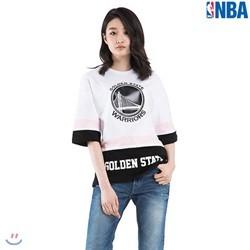 [NBA]GSW WARRIORS 앞판 팀로고 컬러배색 티셔츠(N182TS115P)