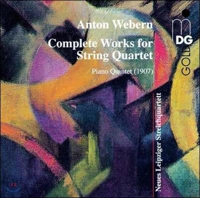 Leipziger Streichquartett 베베른: 현악 사중주 전곡 / 피아노 오중주 (Webern: Complete Works for String Quartet / Piano Quintet)