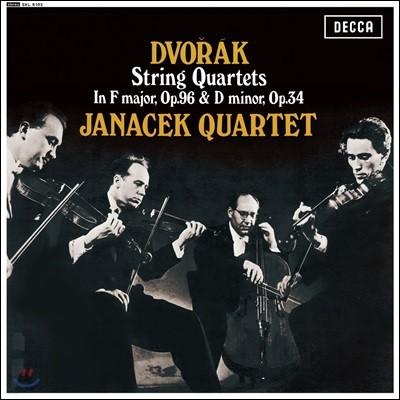 Janacek Quartet 야나체크 콰르텟 - 드보르작: 현악 사중주  `아메리카` (Dvorak: String Quartets Opp.96, 34) [LP]