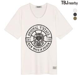 [BUCKAROO]남성 20수 V넥 티셔츠(B182TS215P)