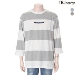 [TBJ]유니 20수 7부 스트라이프 티셔츠(T172TS060P)