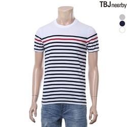 [TBJ]유니 30수 싱글 마린 스트라이프 티셔츠(T172TS110P)