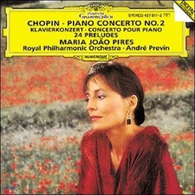 Maria Joao Pires 쇼팽: 피아노 협주곡 2번, 24개의 전주곡 - 피레스 (Chopin: Piano Concerto Op.12, 24 Preludes Op.28)
