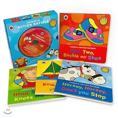 레이디버드 액션 라임 보드북 4종 세트 (본문 리딩 CD 포함) Ladybird Action Rhymes Collection With CD