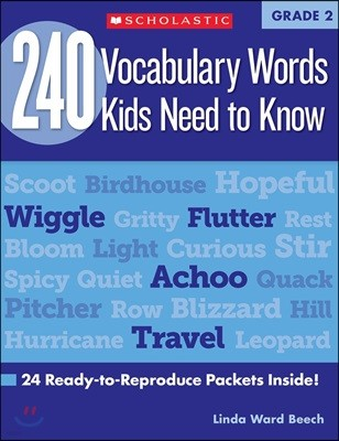240 Vocabulary Words Kids Need to Know: Grade 2: 24 Ready-To-Reproduce Packets Inside!