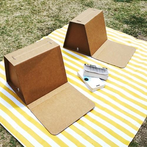 [무료배송] 페이퍼팝 채셔 종이등받이 의자