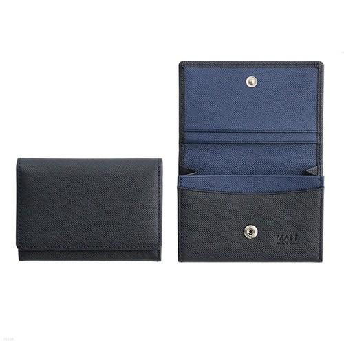 사피아노 슬림 버튼형 명함지갑,명함케이스(다크...
