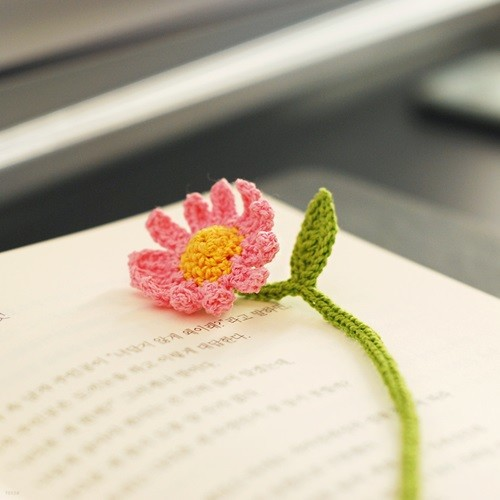 꽃갈피 핑크 데이지 북마크 (선물박스포함)