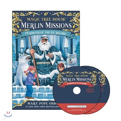 Merlin Mission #4 : Winter of the Ice Wizard (Book + CD)