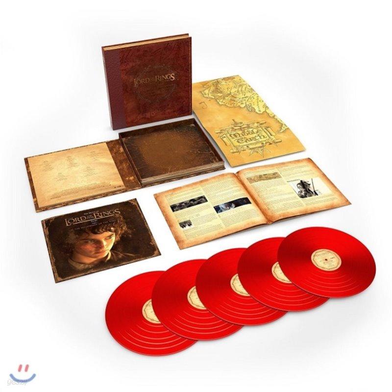 반지의 제왕: 반지 원정대 영화음악 전곡 (The Lord Of The Rings: The Fellowship Of The Ring - The Complete Recordings by Howard Shore) [레드 컬러 5 LP]