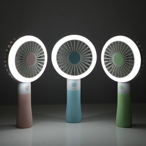 파스텔 LED 핸디 선풍기