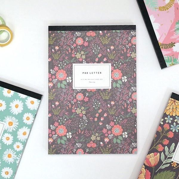 4000 꽃길 패드 편지지 (랜덤발송)