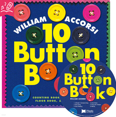 [노부영] 10 Button Book (Board Book & CD Set)