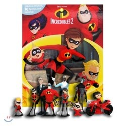 Disney The Incredibles 2 My Busy Book 디즈니 인크레더블 2 비지북 피규어 책