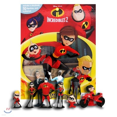 Disney The Incredibles 2 My Busy Book 디즈니 인크레더블 2 비지북 피규어 책