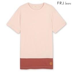 [FRJ]남성 투블록배색티셔츠 (F52M-TM483B)