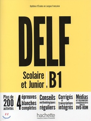 Delf Scolaire et Junior B1 (+DVD-Rom, Corriges)