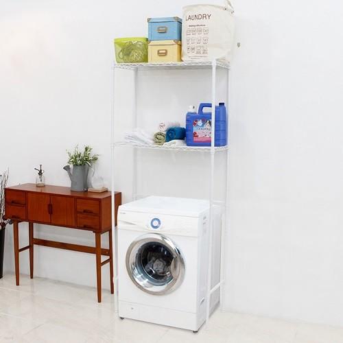 세탁기메탈선반2단수납장750화이트