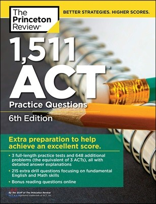 1,551 ACT Practice Questions, 6/E