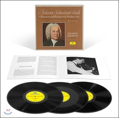 Henryk Szeryng 헨릭 셰링 - 바흐: 무반주 바이올린 소나타와 파르티타 전곡집 (Bach: 6 Sonatas & Partitas for Solo Violin) [3LP]