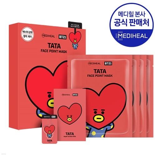 메디힐 BT21 타타 페이스 포인트 마스크 4매