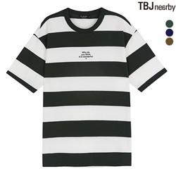 [TBJ]남성 5부소매 스트라이프 티셔츠(T183TS050P)