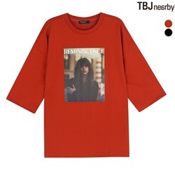 [TBJ]여성 미니쭈리 전사프린트 7부 티셔츠(T183TS600P)
