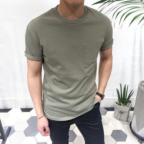 루즈핏 포켓 반팔 티셔츠