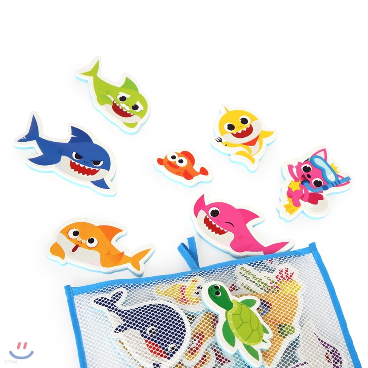 핑크퐁 상어가족 목욕놀이 스티커