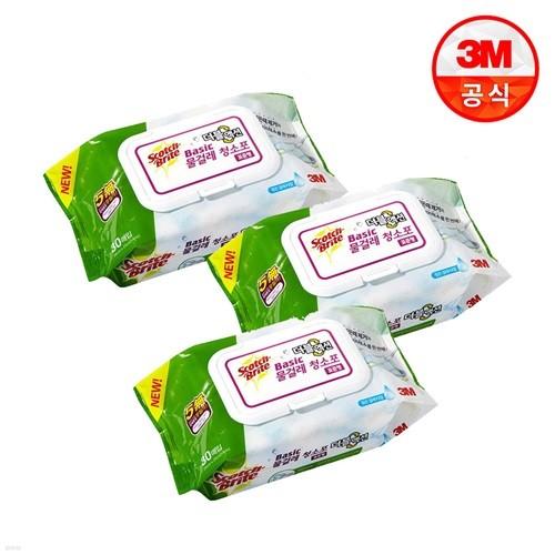 3M 표준형 베이직 더블액션 물걸레 청소포 30매(...